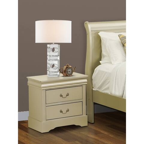 East West Furniture LPN-03 Wooden Nightstand in Walnut
