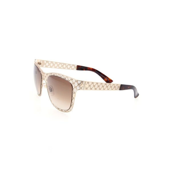 60c14899ab4 Shop Ladies Rectangle Sunglasses in Gold - Free Shipping Today - Overstock  - 23510411
