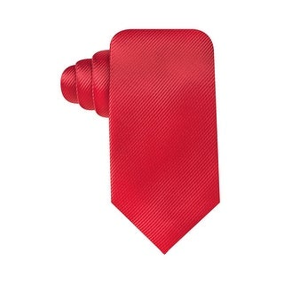 Geoffrey Beene Hand Made Solid Stripe Core Classic Tie Red - One Size Fits most