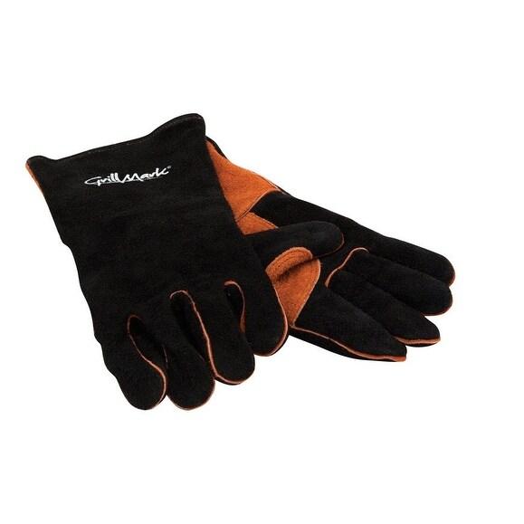 GrillMark 00528 Barbecue Grill Mitt Glove, Black
