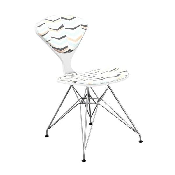 Nye Koncept White U0026amp; Chrome Emmet Eiffel Chair   Chevron Sorbet