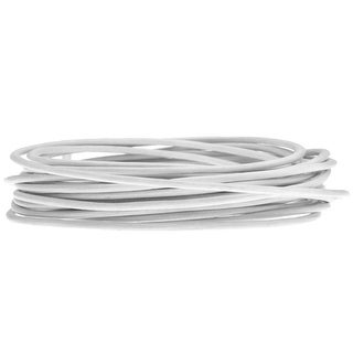 Genuine Leather Cord, Round 1.5mm, By the Yard, White