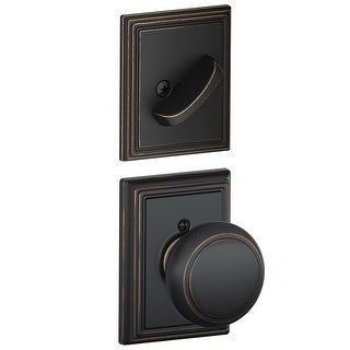 Schlage F59-AND-ADD  Andover Single Cylinder Interior Pack with Decorative Addison Trim - Exterior Handleset Sold Separately