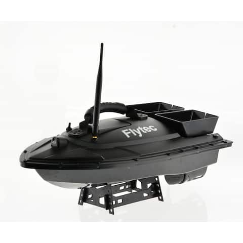 RC boat with 2 bait bins that can be flipped from the remote - 22 inch