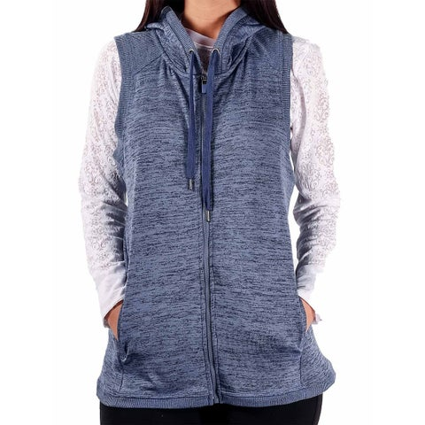 90 Degree By Reflex Knit Crossover Wrap Hooded Vest