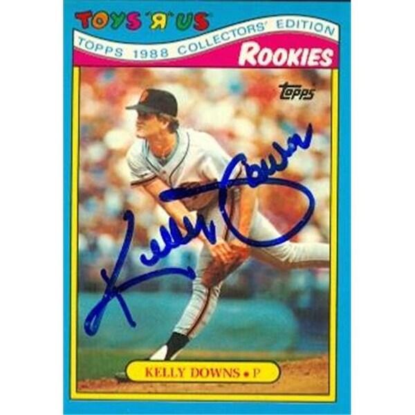 Kelly Downs Autographed Baseball Card San Francisco Giants 1988
