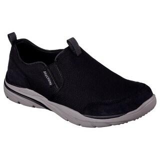 Skechers 64807 BLK Men's CORVEN-HORST Loafers