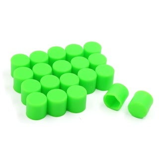 Unique Bargains 20 Pcs 19mm Auto Car Wheel Lug Nut Dust Cover Hub Bolt Screw Hexagonal Cap Green