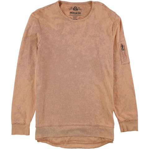 American Rag Mens 2-Tone Sweatshirt, pink, Medium