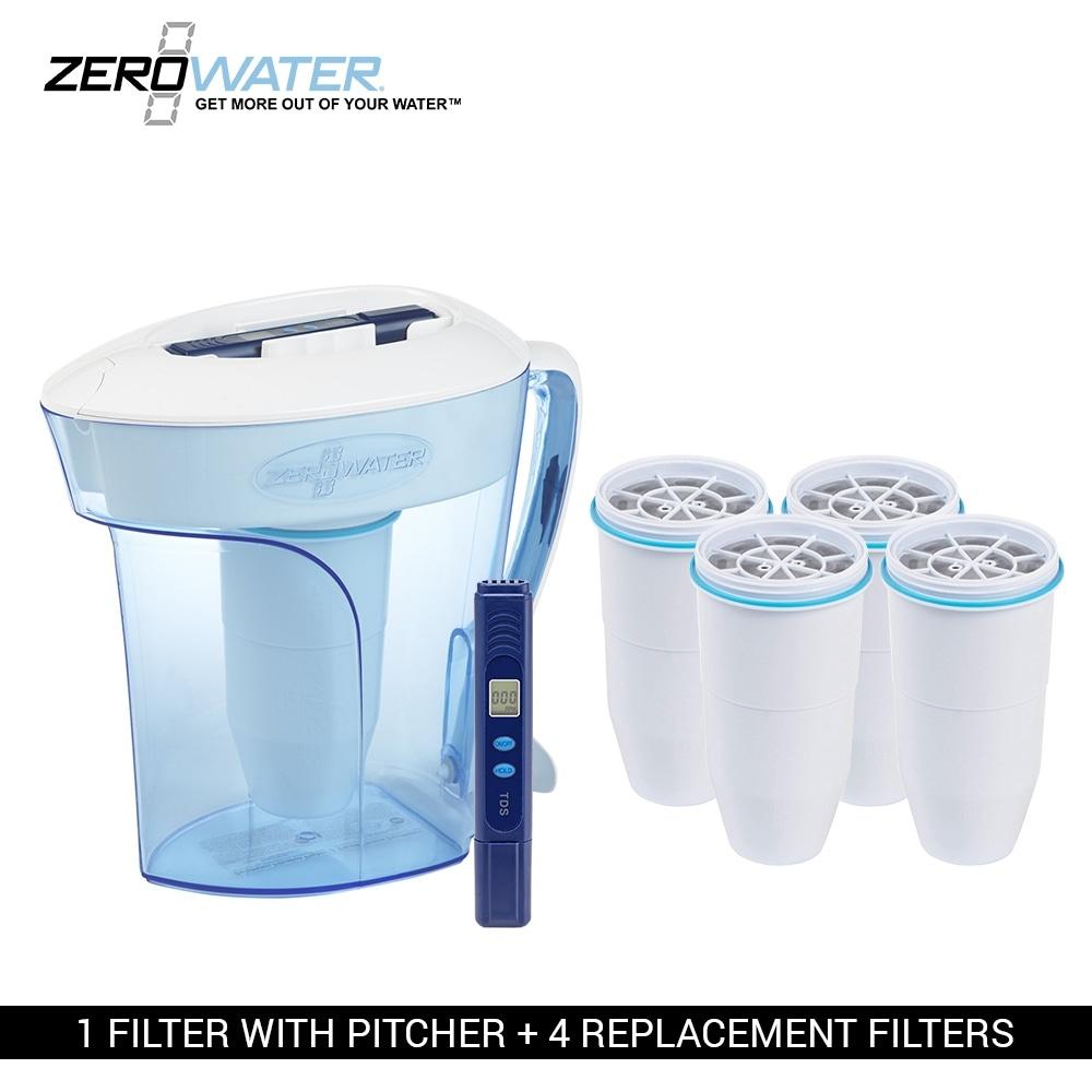 Shop Zero Water Zp006 10 Cup Pitcher Bundle W Built In Tds