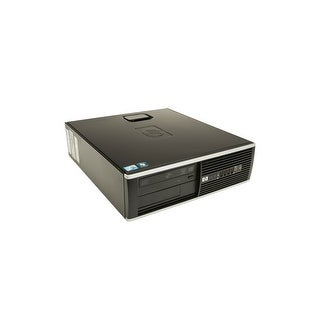 "HP Compaq 8000 Elite SFF Standard Refurb PC - Intel Core 2 Duo E8500 3.16 GHz 4GB DIMM DDR3 SATA 3.5"" 320GB DVD-RW Windows 7 Pro"
