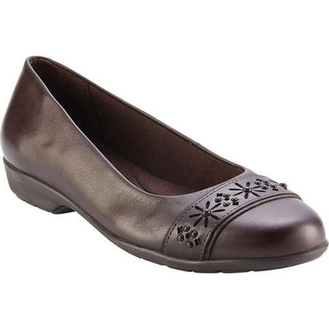 Walking Cradles Women's Francine Flat Brown Leather