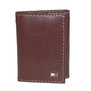 Tommy Hilfiger Men's Leather Logan Trifold Wallet with Zipper Bill Slot - One size