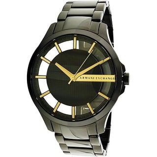 Armani Exchange Men's Hampton AX2192 Black Stainless-Steel Quartz Dress Watch|https://ak1.ostkcdn.com/images/products/is/images/direct/1e03fa66b935698f2deb502fa0155be9f0f2789a/Armani-Exchange-Men%27s-Hampton-AX2192-Black-Stainless-Steel-Quartz-Dress-Watch.jpg?impolicy=medium