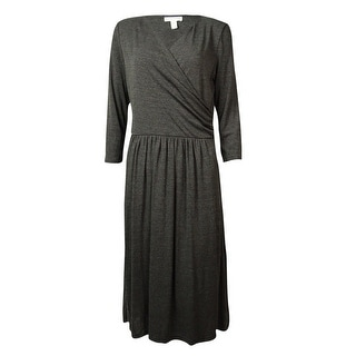 Charter Club Women's Flared Jersey Surplice Dress