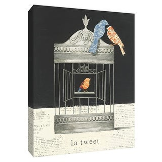 "PTM Images 9-154962  PTM Canvas Collection 10"" x 8"" - ""La Tweet"" Giclee Birds Art Print on Canvas"