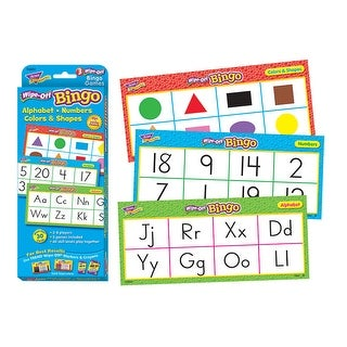 Trend Enterprises Alphabet, Numbers, Colors & Shapes Wipe-Off Bingo Game