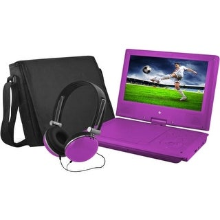 "Ematic EPD909PR Ematic EPD909 Portable DVD Player - 9"" Display - 640 x 234 - Purple - DVD-R, CD-R - JPEG - DVD Video, Video"
