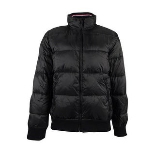 Tommy Hilfiger Men's Full-Zip Puffer Coat (L, Meteorite) - meteorite - L