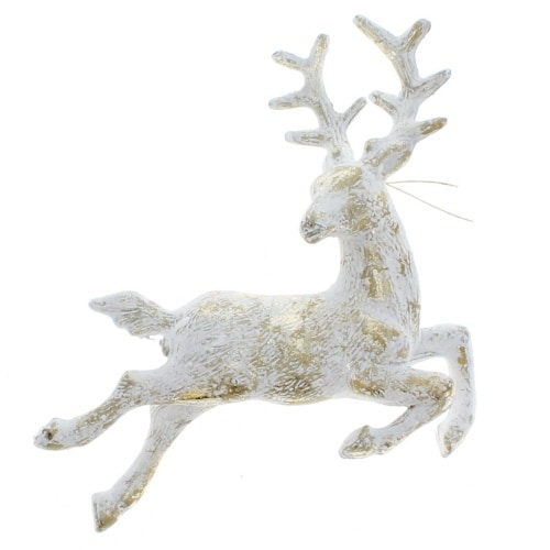 Cream and Gold Reindeer Ornament