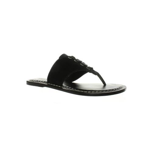 Bernardo Womens Matilda Black Velvet T-Strap Sandals Size 6.5