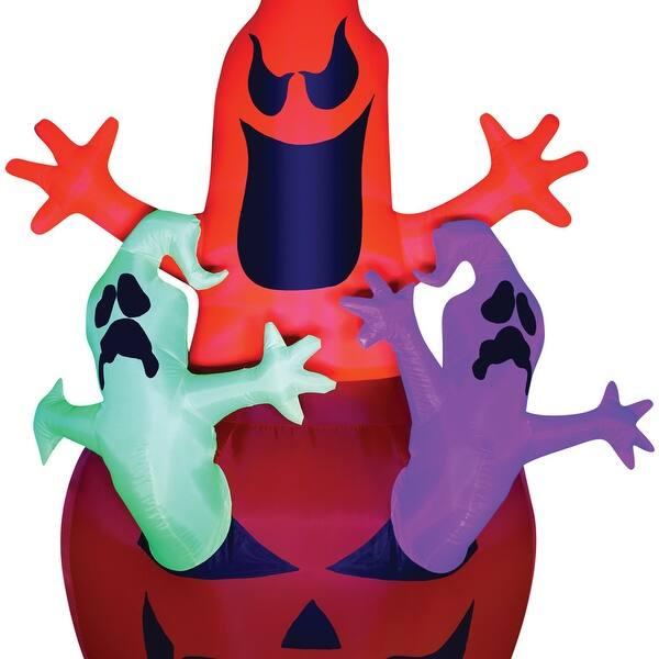 Halloween 2020 Inflating Pumpkin Opening Shop Halloween Inflatable Neon Pumpkin And Ghosts New 2020