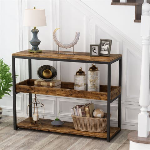 39Console Table Sofa Table Entryway Table Side Tablewith Storage