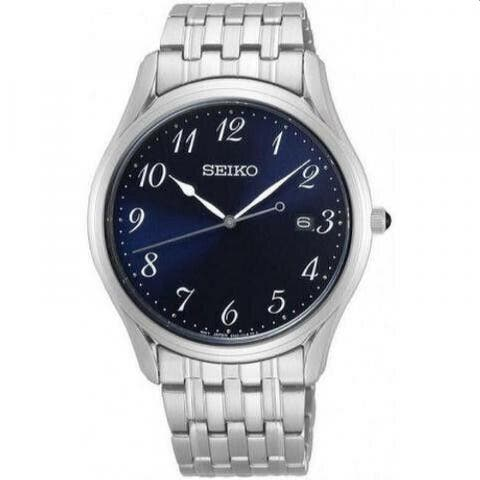 Seiko Men's SUR301 'Classic' Stainless Steel Watch - Blue