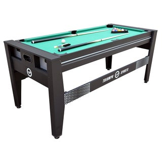 Triumph 6' Combo Game Table 4-in-1 Rotating, Billiards, Hockey, Tennis, Football / 45-6065