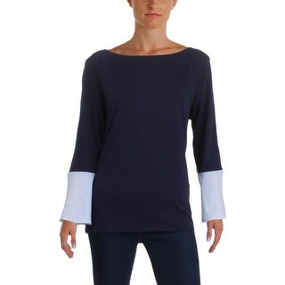 Tommy Hilfiger Womens Pullover Top Knit 2Fer