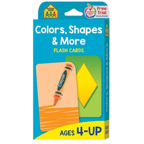 (12 Ea) Colors Shapes & More Flash Cards