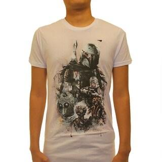Star Wars Boba Fett And Bounty Hunters Men's White T-shirt