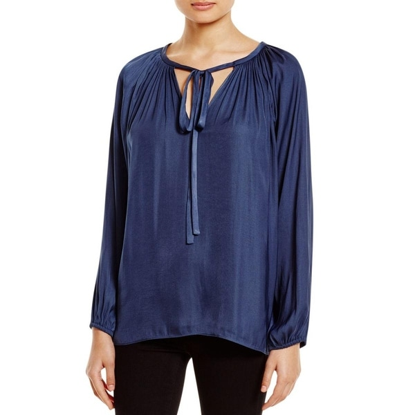 Miraclebody Womens Blouse Hi-Low Drapey