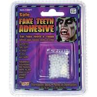 Thermo Plastic Fake Teeth Adhesive Costume Accessory - White