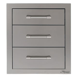 "Alfresco AXE-3DR 17"" Wide Triple Storage Drawers - STAINLESS STEEL - N/A"