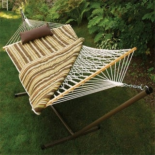 Algoma 8911S Cotton Rope Hammock Stand Pad and Pillow Combination