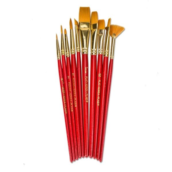 Plaid Multi-Purpose Paint Brush Set