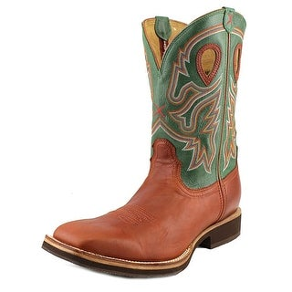 "Twisted X Horseman 12"" Men Round Toe Leather Green Western Boot"