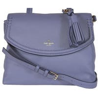 Kate Spade Oyster Blue Leather Orchard Street Cambria Convertible Purse Bag