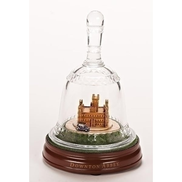 "8.75"" Musical Castle Downton Abbey Bell Jar - CLEAR"