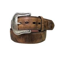 Dan Post Western Belt Mens Padded Stitched Brown