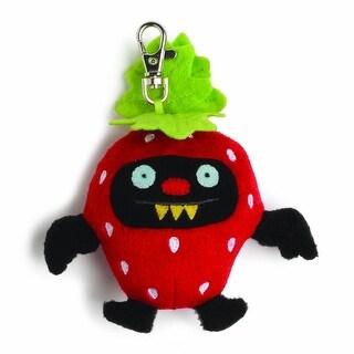 "Ugly Dolls Fruities 4"" Plush Clip-On: Ninja Batty Strawberry"