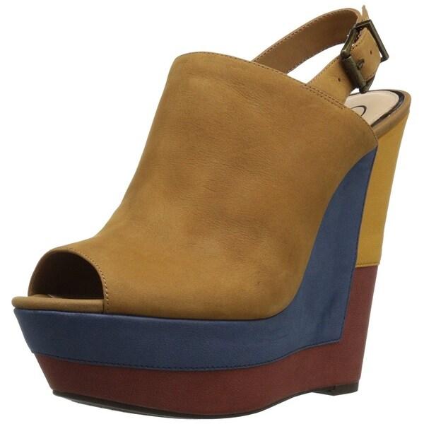 a841e002db9 Shop Jessica Simpson Womens Radina Peep Toe SlingBack Wedge Pumps ...