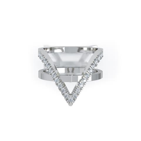 14K Gold V-Shaped Diamond Ring (0.25 Ct, G-H Color, SI2-I1 Clarity) by Noray Designs
