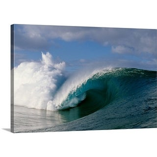 Premium Thick-Wrap Canvas entitled Waves splashing in the sea