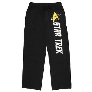 Star Trek Emblem Black Quick Turn Sleep Pants