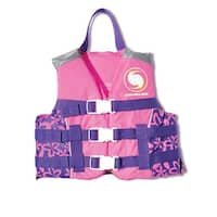 USCG Approved Water or Swimming Pool Pretty in Pink Youth Floral Life Vest for Girls - Up to 90lbs