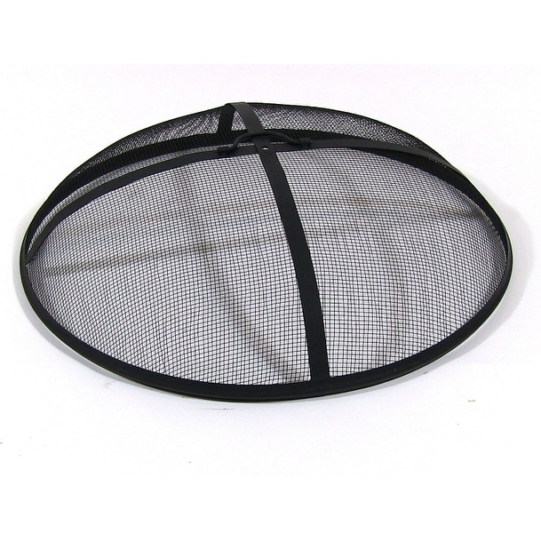 Sunnydaze Heavy Duty Fire Pit Spark Screen - Black - Thumbnail 2