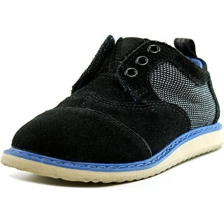 Toms Brogue Toddler  Round Toe Canvas Black Oxford