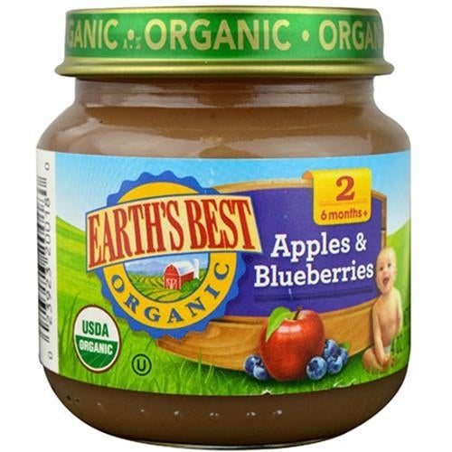 Earth's Best - Organic Apples & Blueberries ( 12 - 4 OZ)